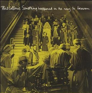 """The cover art of the single """"Something Happened on the Way to Heaven""""."""