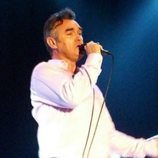 Morrissey performing live.