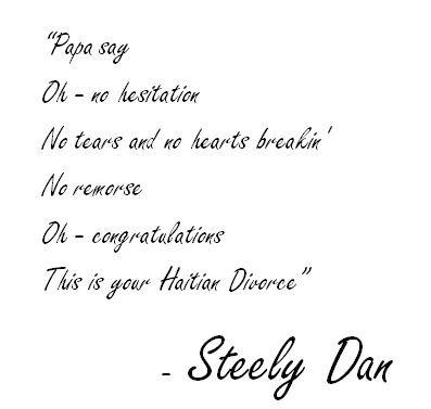 Haitian Divorce lyrics