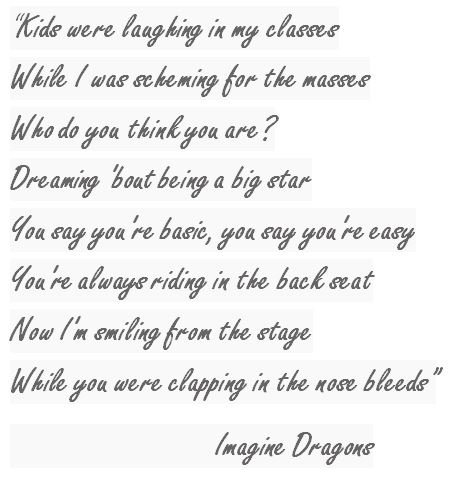 Lyrics of Thunder by Imagine Dragon