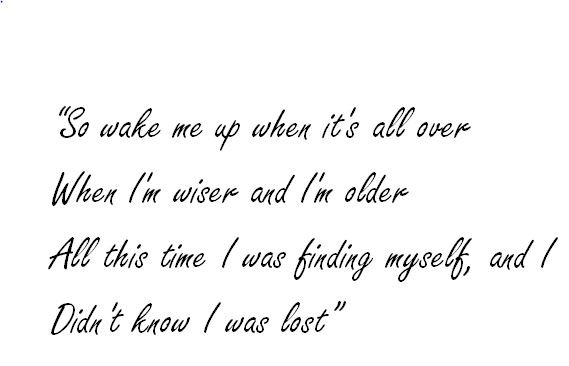 Lyrics of Wake Me Up by Avicii