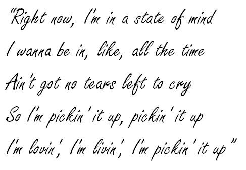 "Lyrics of ""No Tears Left To Cry"""