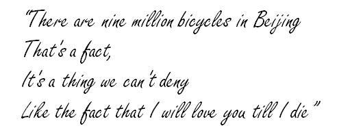 "Meaning of ""Nine Million Bicycles"" by Katie Melua - Song"