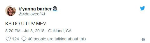K'yanna Barber's tweet
