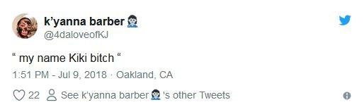 K'yanna's tweet