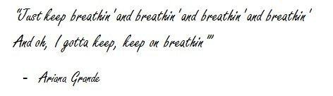 """Lyrics of """"Breathin"""" by Ariana Grande"""