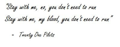 "Lyrics of ""My Blood"" by Twenty One Pilots"