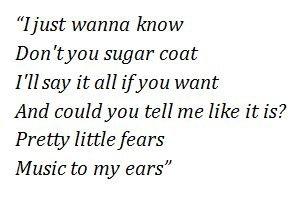 Pretty Little Fears lyrics