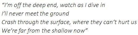 "Lyrics of ""Shallow"""