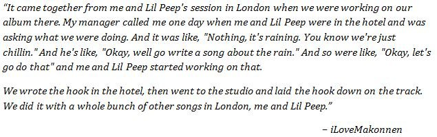 "iLoveMakonnen on making the song ""Falling Down""."