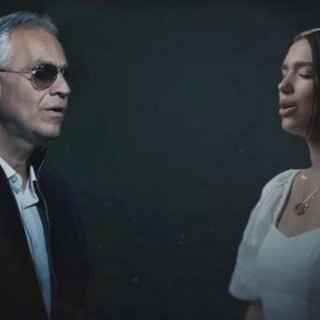 Andrea Bocelli and Dua Lipa
