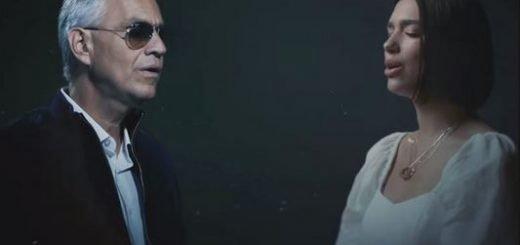Andrea Bocelli and Dua Lipa