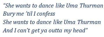 "Lyrics of ""Uma Thurman"""
