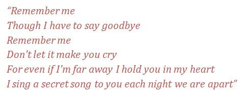 Remember Me Song
