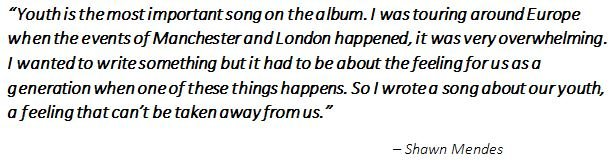 "Shawn Mendes on the meaning of the song ""Youth"""