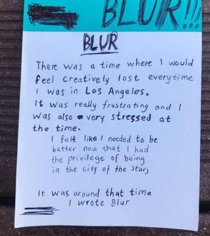 """MØ on the song """"Blur"""""""