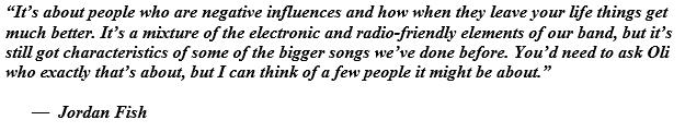 "Jordan Fish talks about the song ""Medicine"""