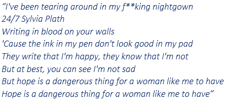 """Lyrics of """"Hope Is A Very Dangerous Thing For A Woman Like Me To Have - But I Have It"""""""