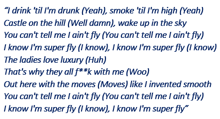 "Lyrics of ""Wake Up in the Sky"""