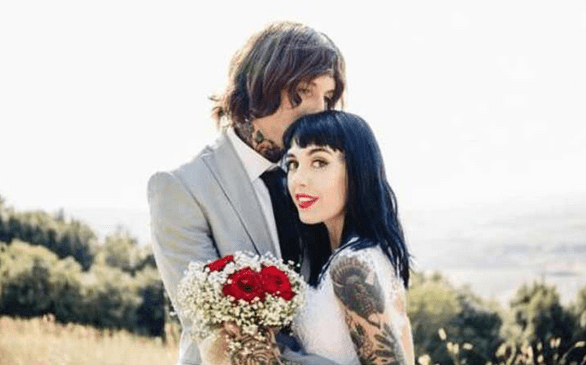 Oliver Sykes and Hannah