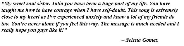 "Selena Gomez on ""Anxiety"""