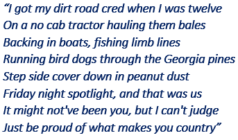 """Lyrics of """"What Makes You Country"""""""