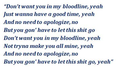 Lyrics of Bloodline
