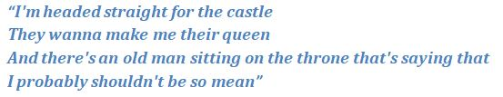 "Lyrics of ""Castle"""