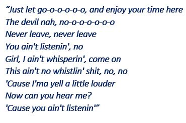 "Lyrics of ""Just Let Go"""