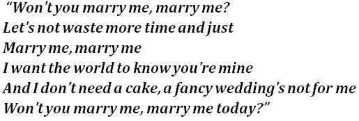Marry Me lyrics
