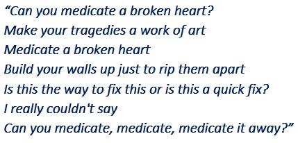 "Lyrics of Gabbie Hanna's ""Medicate"""