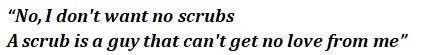 """No Scrubs"" lyrics"