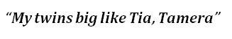 "Lyrics of ""Tia Tamera"""