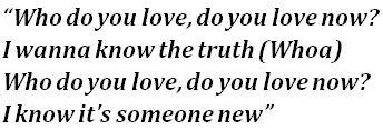 Lyrics of Who Do You Love