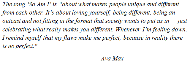 Ava Maxs So Am I Lyrics Meaning Song Meanings And Facts