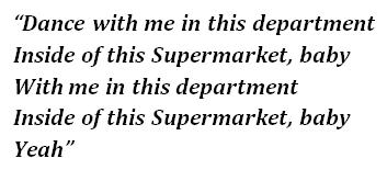 "Lyrics of ""Supermarket"""