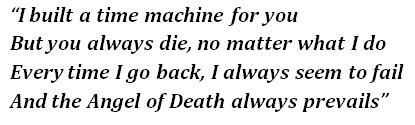 "Lyrics of ""Time Machine"""