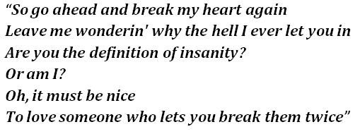 """Lyrics of FINNEAS' """"Break My Heart Again"""""""