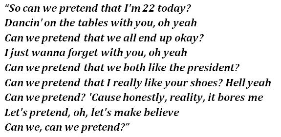 "Lyrics of ""Can We Pretend"""