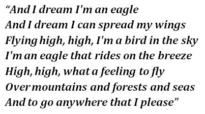 "Lyrics of ""Eagle"""