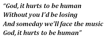 "Lyrics of Pink's ""Hurts 2B Human"""