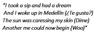 """Lyrics of """"Medellín"""""""