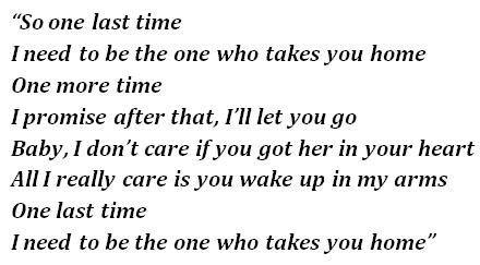 One Last Time lyrics