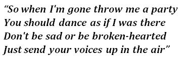 "Lyrics of ""Throw Me A Party"""