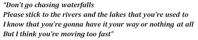 Tlc Waterfalls Meaning