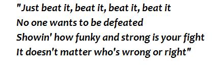"""Beat It"" lyrics"