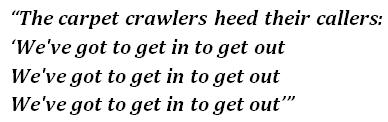 Carpet Crawlers lyrics