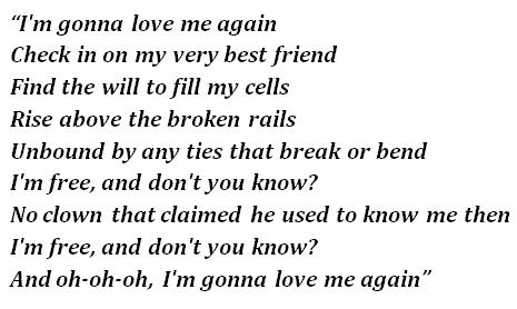 (I'm Gonna) Love Me Again lyrics