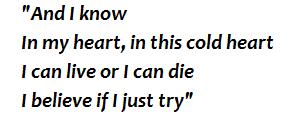 """Lyrics of """"Cold Little Heart"""""""