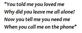 "Lyrics of ""Cry Me a River"""